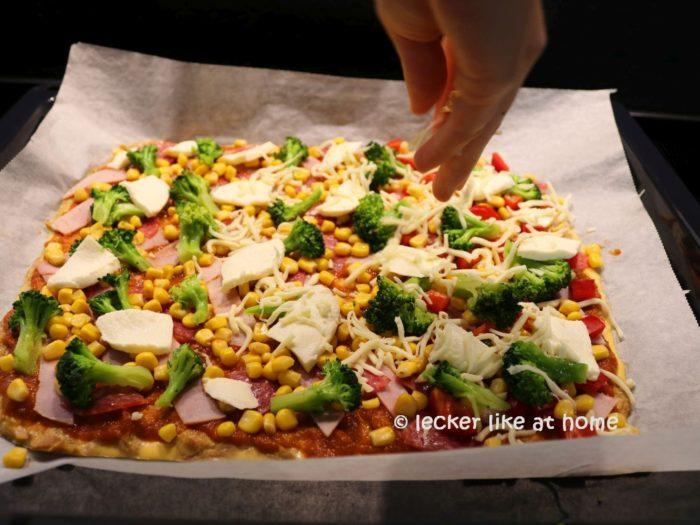 Thunfisch Pizza Teig