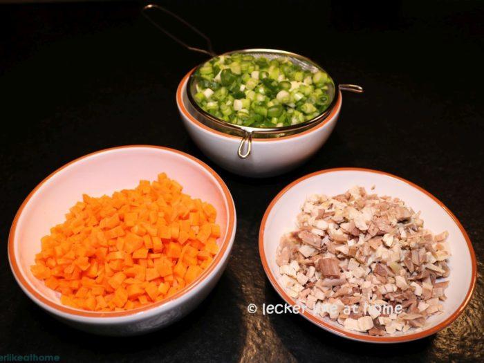 Suppenfleisch, Gemüse
