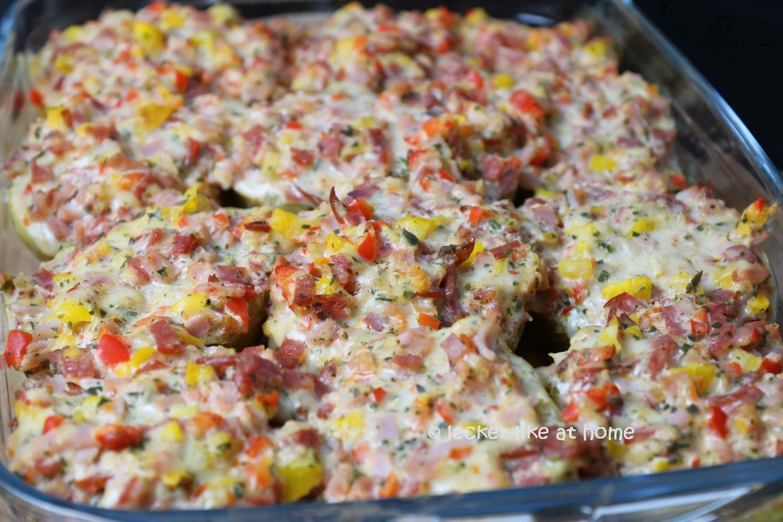Pizza Kartoffeln - gebacken