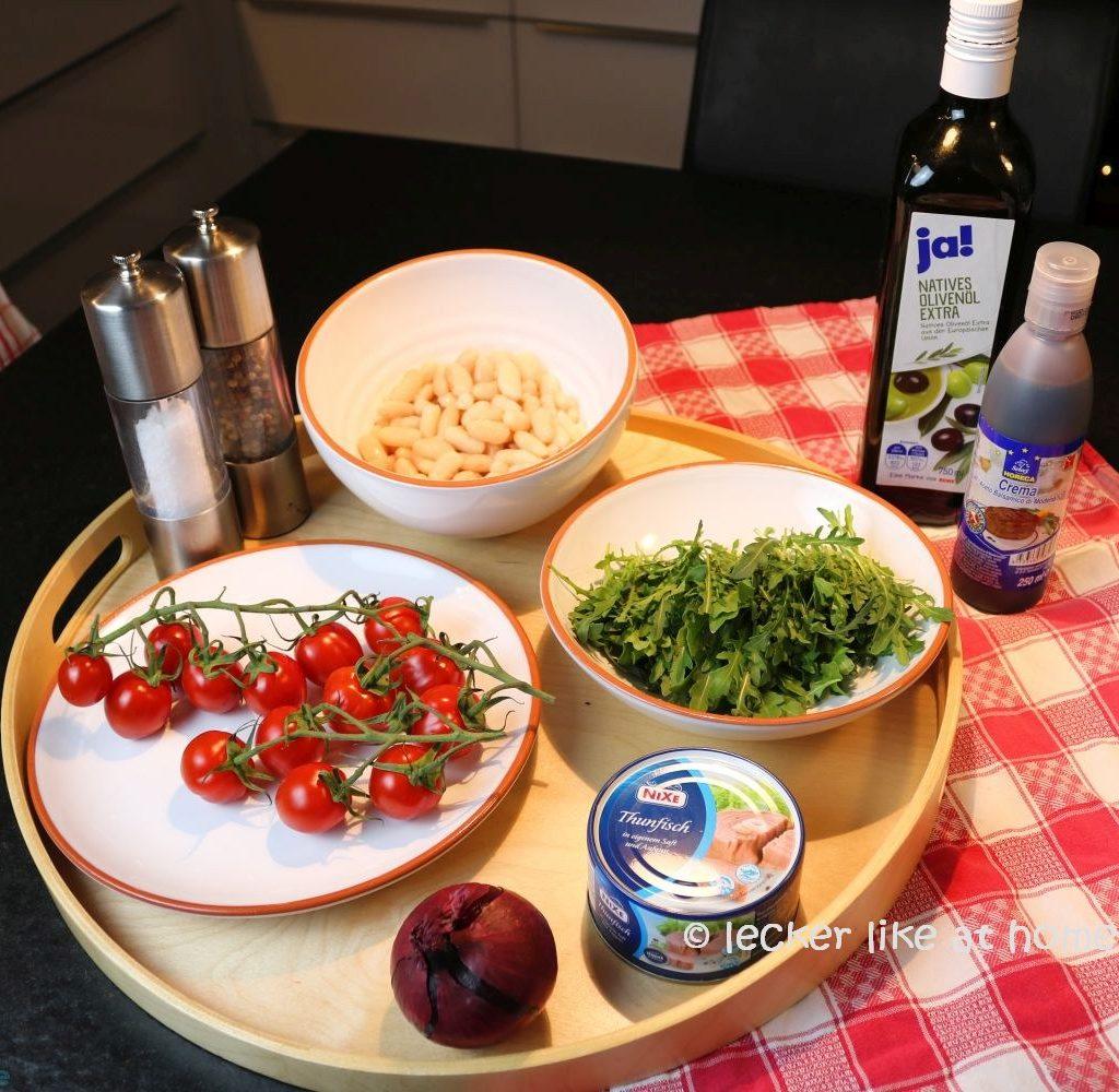 Thunfisch-Bohnen-Salat - die Zutaten