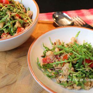 Thunfisch-Bohnen-Salat - mit Rucola
