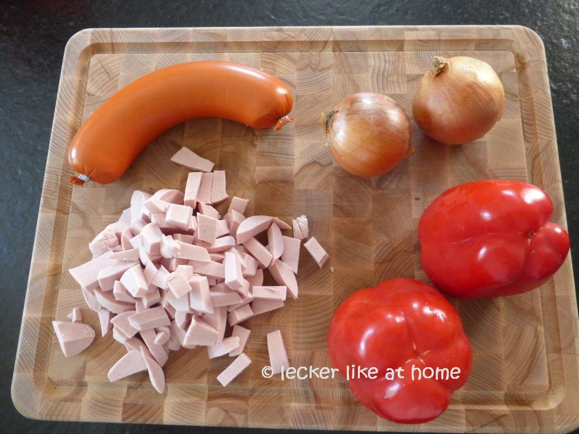 Serbisches Reisfleisch - die Zutaten