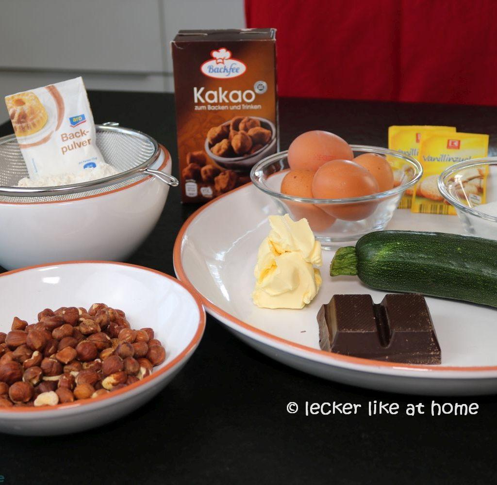 Zucchini Brownies - die Zutaten