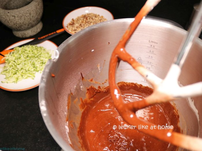 Zucchini Brownies - der Teig
