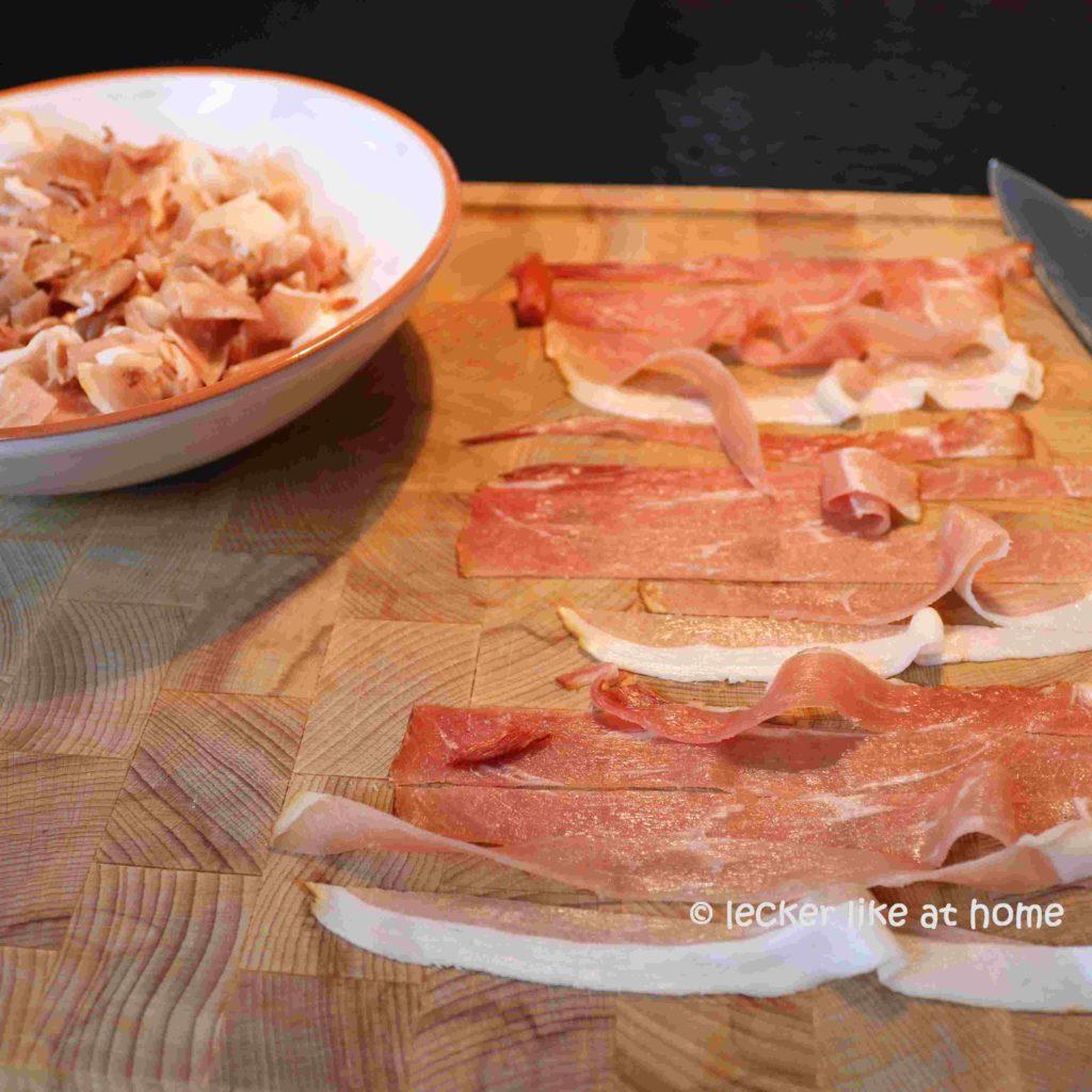Gebackener-Butterkürbis-7-Schinken-würfeln
