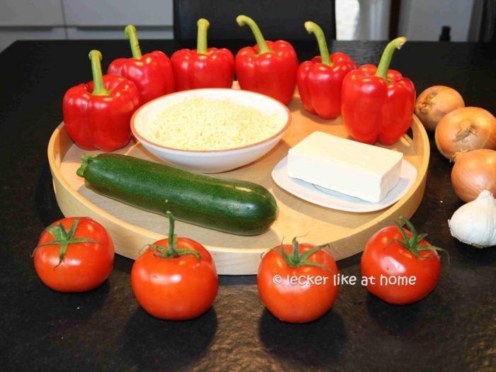 Paprika Feta Auflauf - die Zutaten
