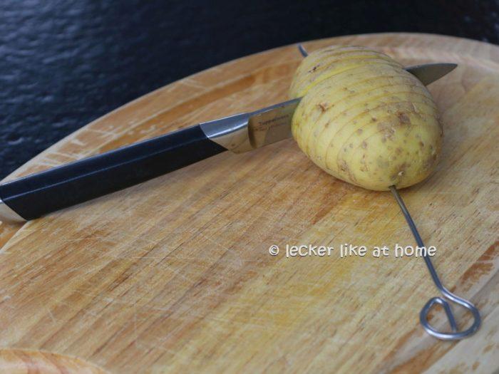 Karatoffeln schneiden