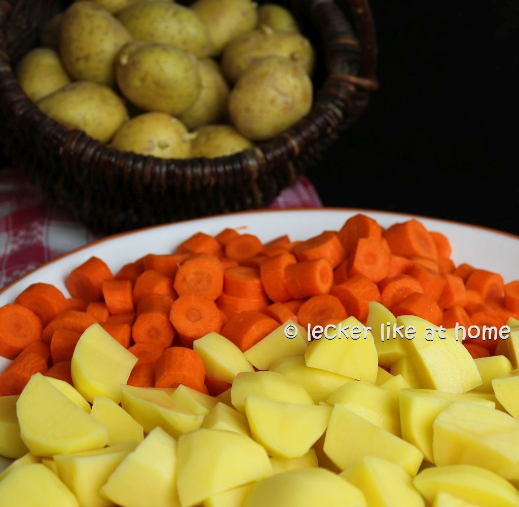Karottensüppchen - Möhren und Kartoffeln