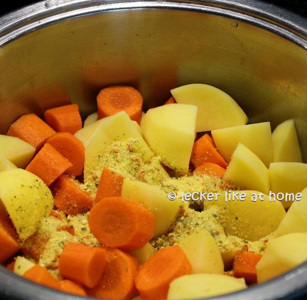 Karottensüppchen - würzen