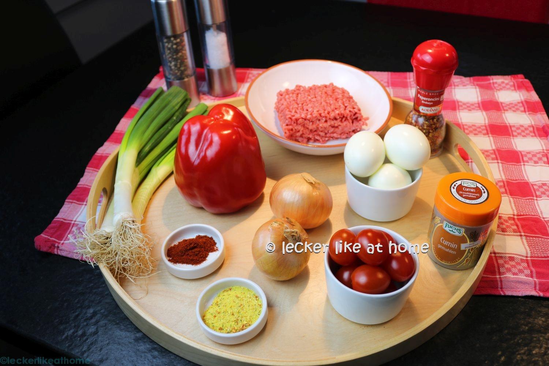 Hackfleisch - Gemüse - Füllung - Empanadas