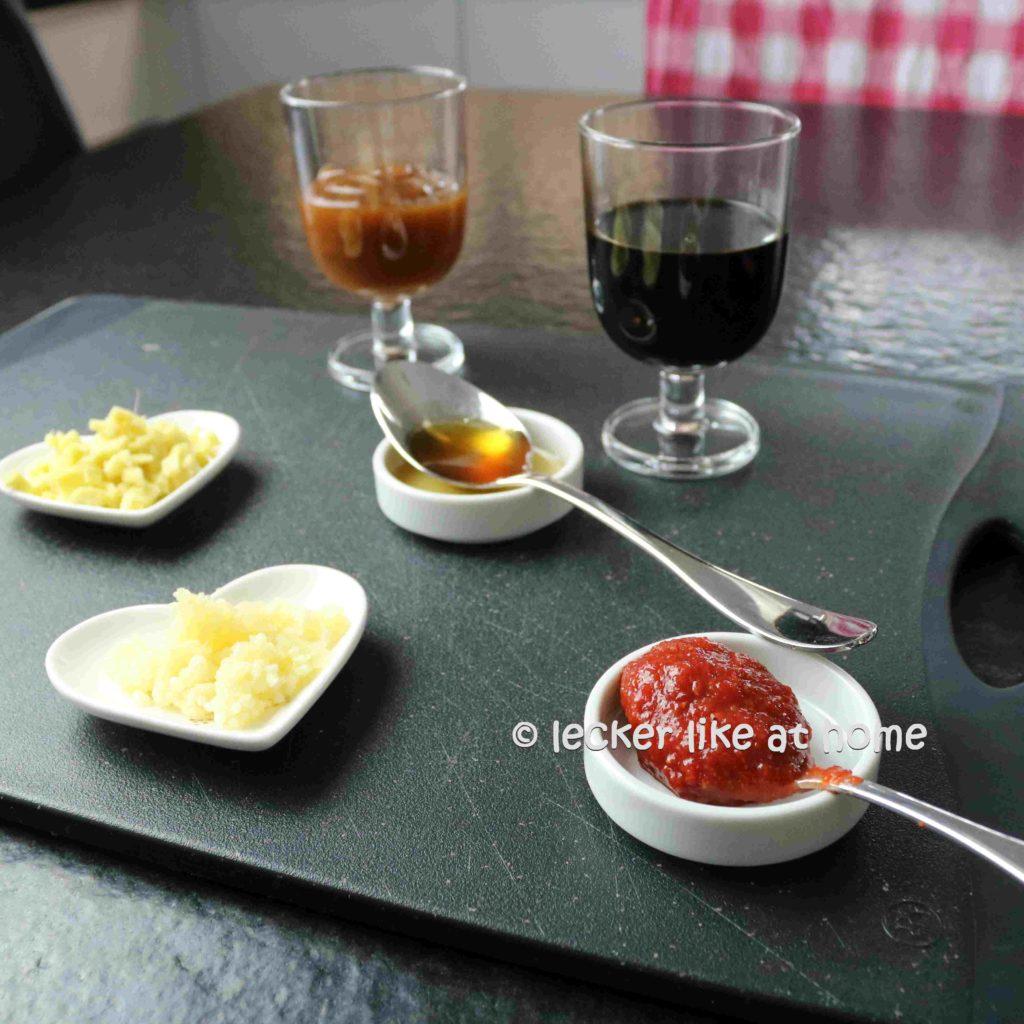 Ingwernuggets-Zutaten für den Dipp
